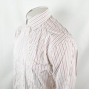 Burberry's of London Mens Button Front Dress Shirt